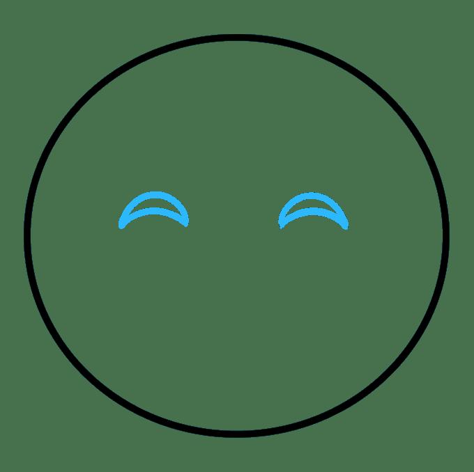 Cách vẽ biểu tượng cảm xúc vui vẻ: Bước 2