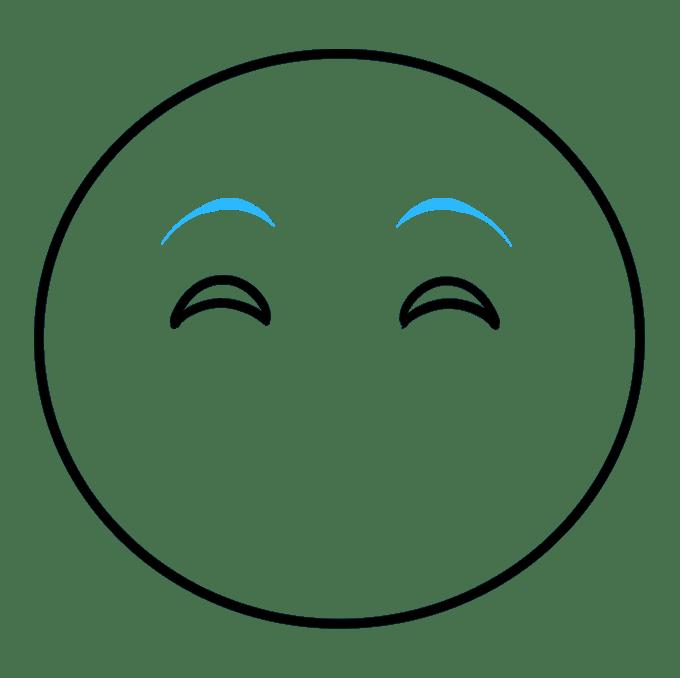 Cách vẽ biểu tượng cảm xúc vui vẻ: Bước 3