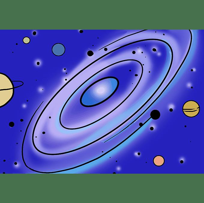 """Cách vẽ thiên hà: Bước 10 """"srcset ="""" https://vẽ.vn/wp-content/uploads/2018/10/Gal Wax-10.png"""