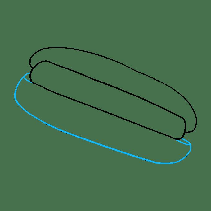 Cách vẽ Hot Dog: Bước 4