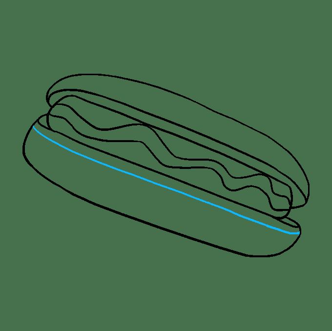 Cách vẽ Hot Dog: Bước 8