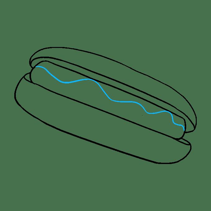 Cách vẽ Hot Dog: Bước 6