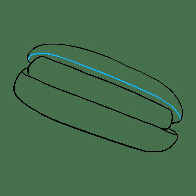 Cách vẽ Hot Dog: Bước 5