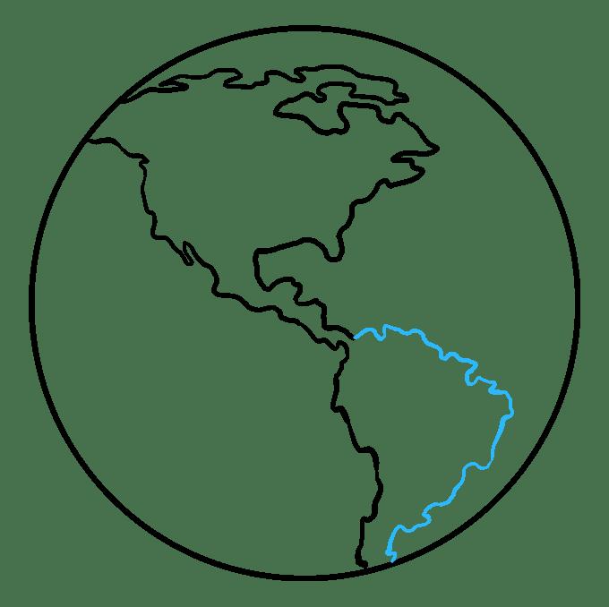 Cách vẽ Trái đất: Bước 6