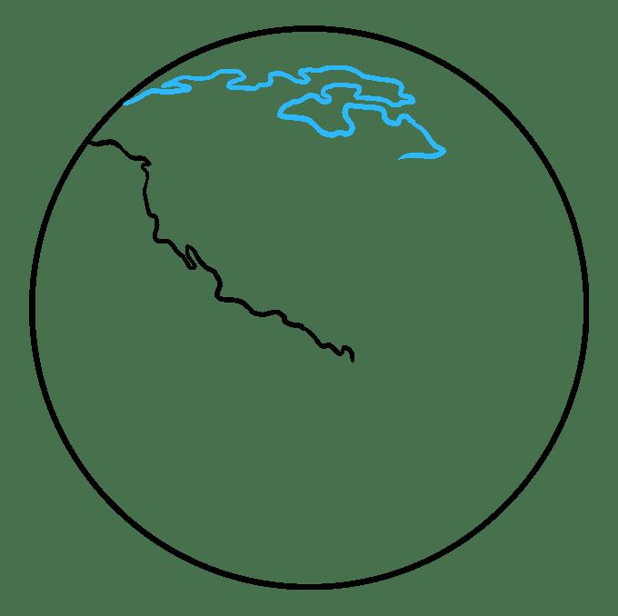 Cách vẽ Trái đất: Bước 3