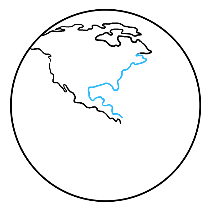 Cách vẽ Trái đất: Bước 4