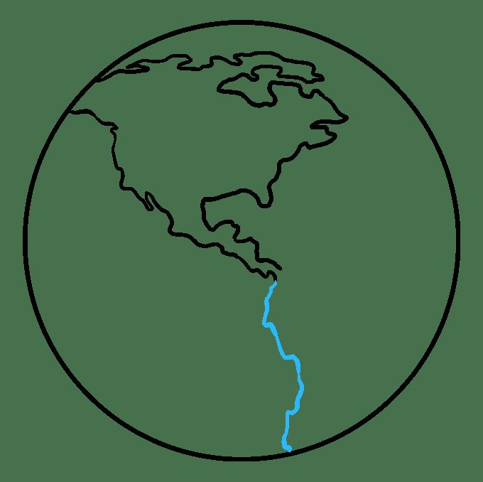 Cách vẽ Trái đất: Bước 5