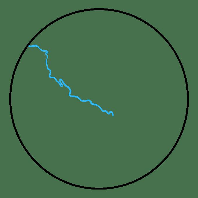 Cách vẽ Trái đất: Bước 2