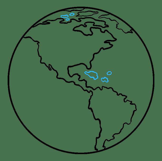 Cách vẽ Trái đất: Bước 8