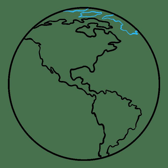 Cách vẽ Trái đất: Bước 7