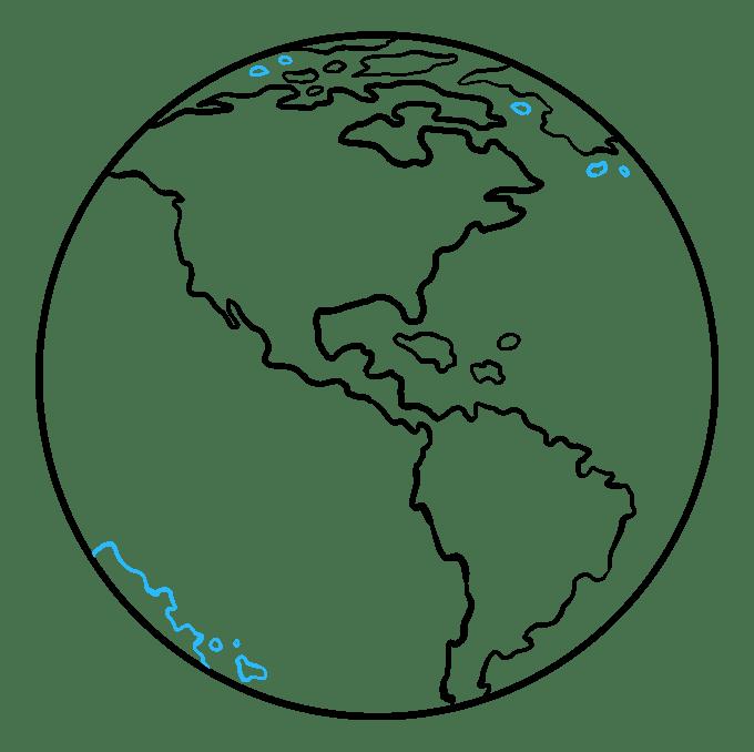 Cách vẽ Trái đất: Bước 9