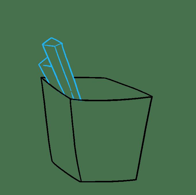 Cách vẽ khoai tây chiên kiểu Pháp: Bước 4