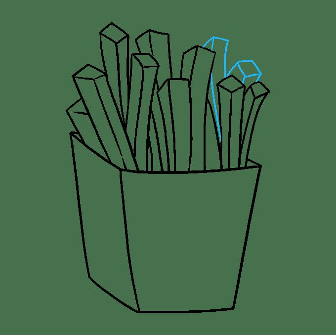 Cách vẽ khoai tây chiên: Bước 8