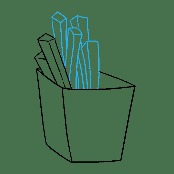 Cách vẽ khoai tây chiên: Bước 5
