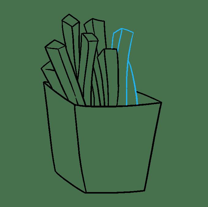 Cách vẽ khoai tây chiên: Bước 6
