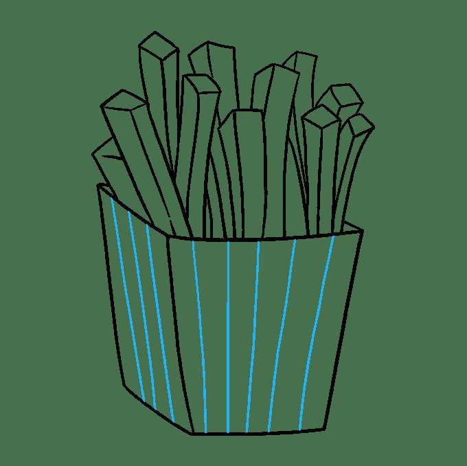 Cách vẽ khoai tây chiên: Bước 7