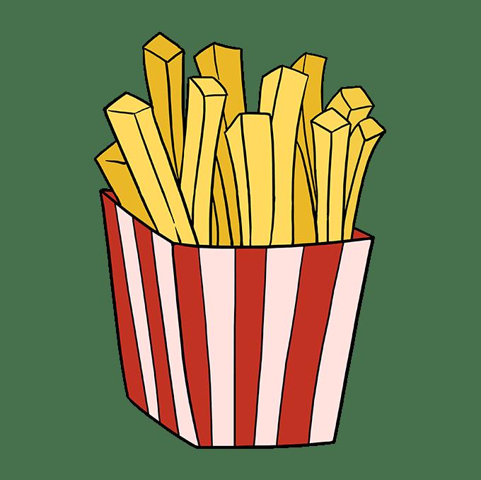 Cách vẽ khoai tây chiên: Bước 10