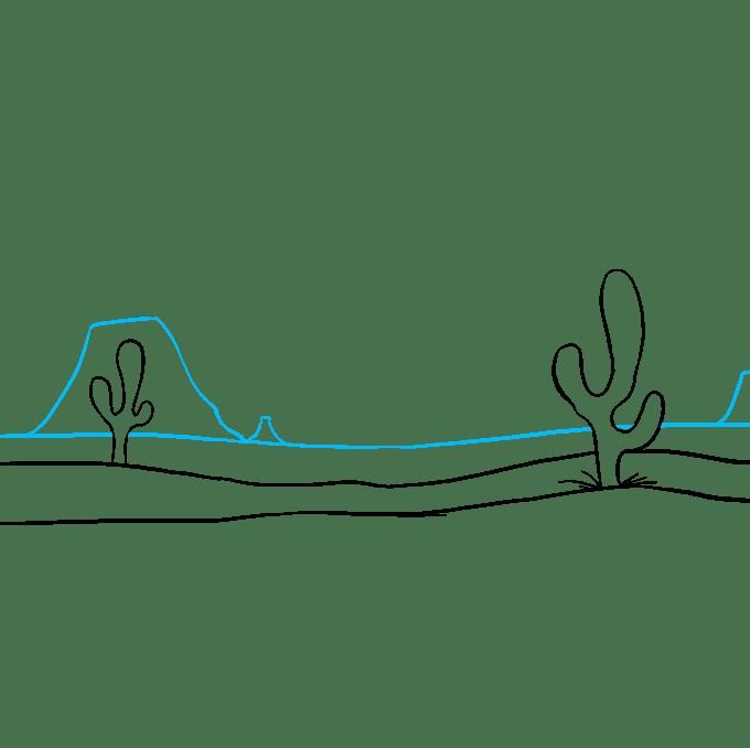 Cách vẽ sa mạc: Bước 6