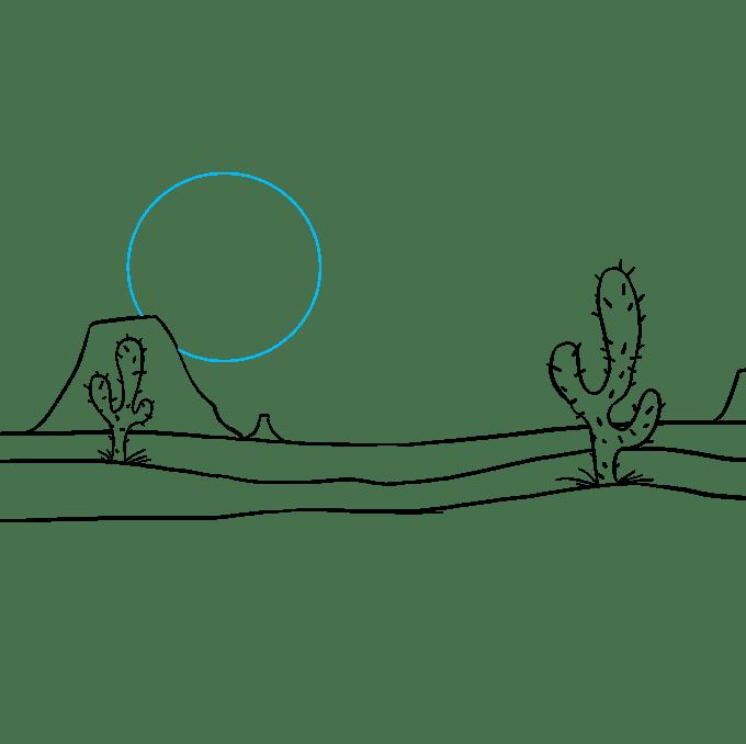 Cách vẽ sa mạc: Bước 8