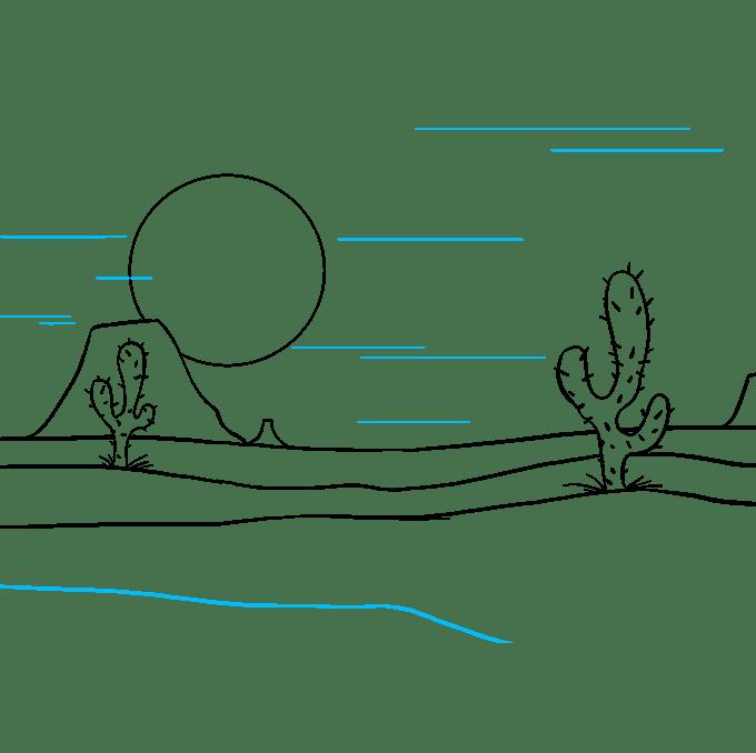Cách vẽ sa mạc: Bước 9