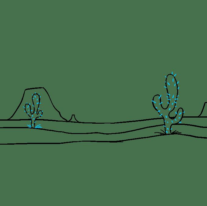 Cách vẽ sa mạc: Bước 7
