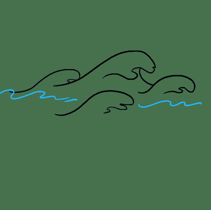 Cách vẽ sóng: Bước 8
