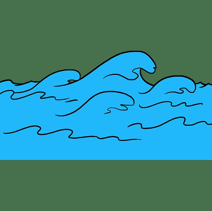 Cách vẽ sóng: Bước 10