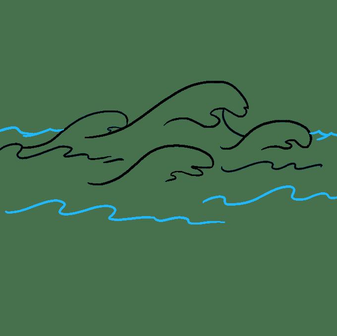 Cách vẽ sóng: Bước 9