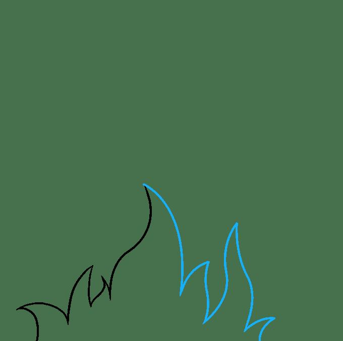 Cách vẽ ngọn lửa và khói: Bước 2