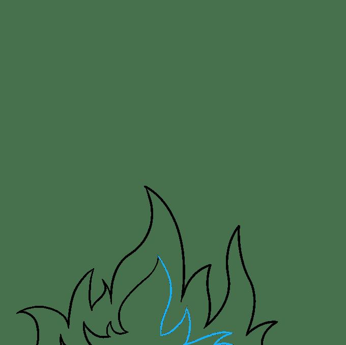 Cách vẽ ngọn lửa và khói: Bước 4