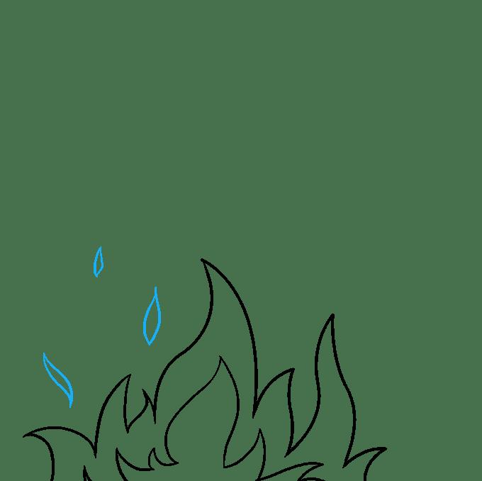 Cách vẽ ngọn lửa và khói: Bước 5