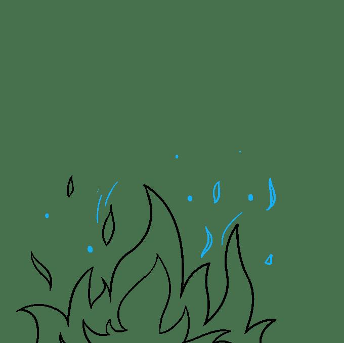 Cách vẽ ngọn lửa và khói: Bước 6
