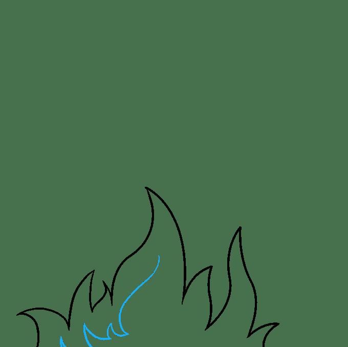 Cách vẽ ngọn lửa và khói: Bước 3