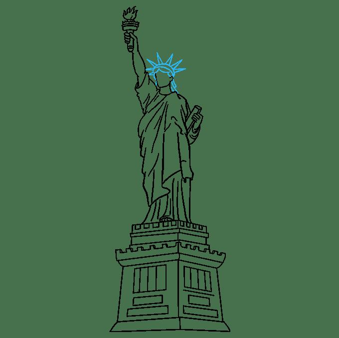 Cách vẽ tượng nữ thần tự do: Bước 8