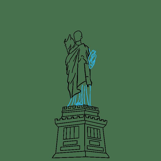 Cách vẽ tượng nữ thần tự do: Bước 6