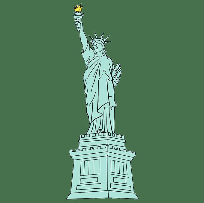 Cách vẽ tượng nữ thần tự do: Bước 10