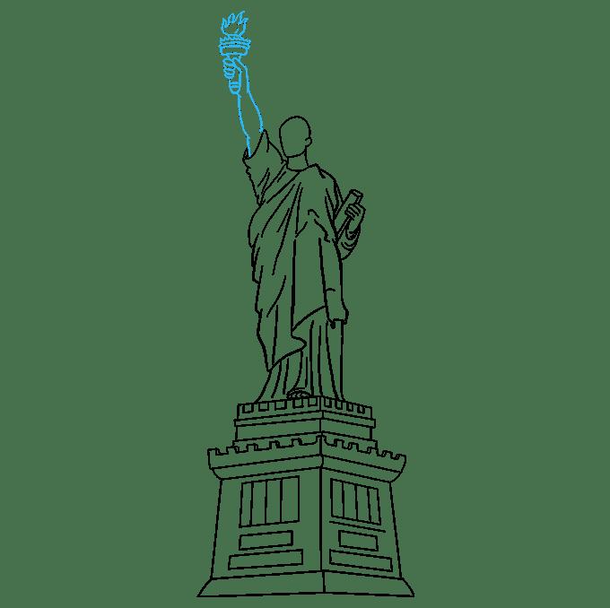 Cách vẽ tượng nữ thần tự do: Bước 7
