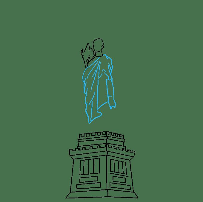 Cách vẽ tượng nữ thần tự do: Bước 5