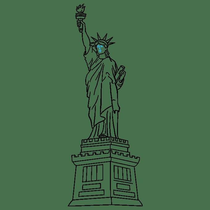 Cách vẽ tượng nữ thần tự do: Bước 9