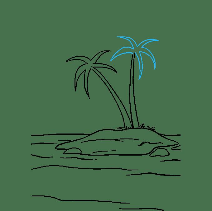 Cách vẽ đảo: Bước 8