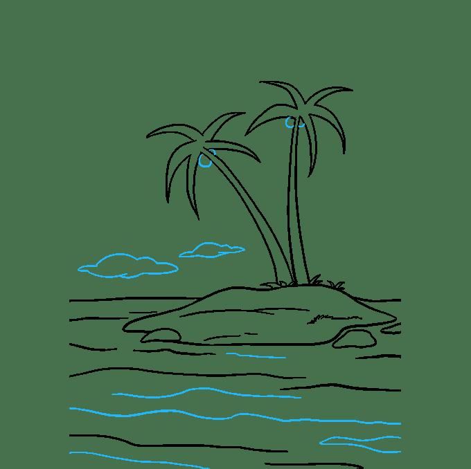 Cách vẽ đảo: Bước 9