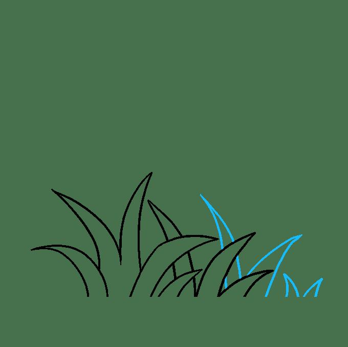 Cách vẽ cỏ: Bước 5