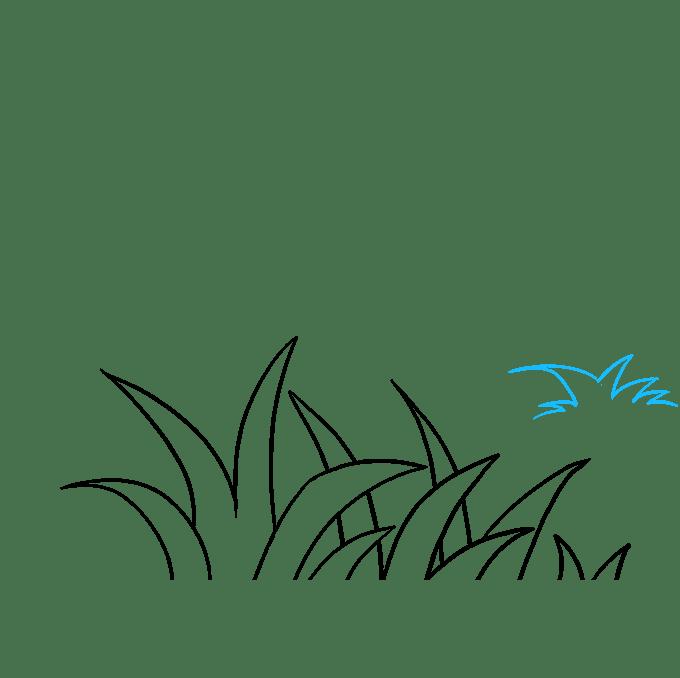 Cách vẽ cỏ: Bước 6