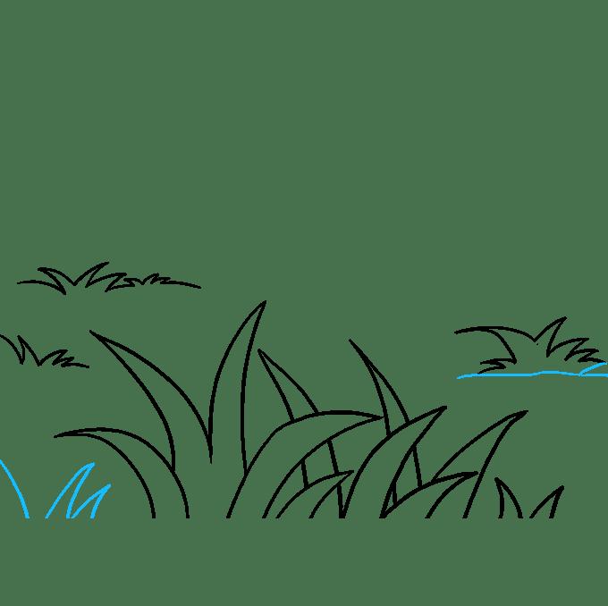 Cách vẽ cỏ: Bước 8