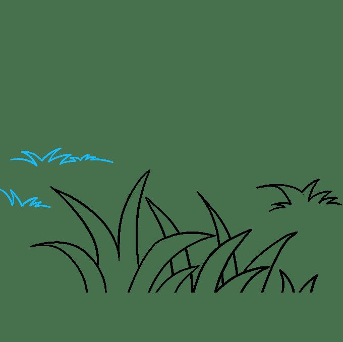 Cách vẽ cỏ: Bước 7