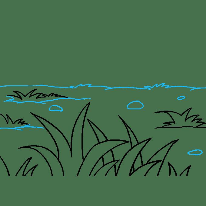 Cách vẽ cỏ: Bước 9