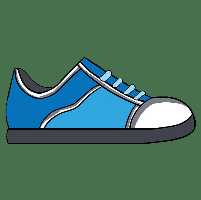 Cách vẽ giày: Bước 10