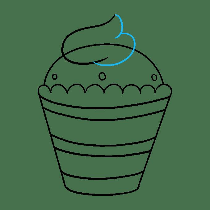 Cách vẽ Cupcake: Bước 9