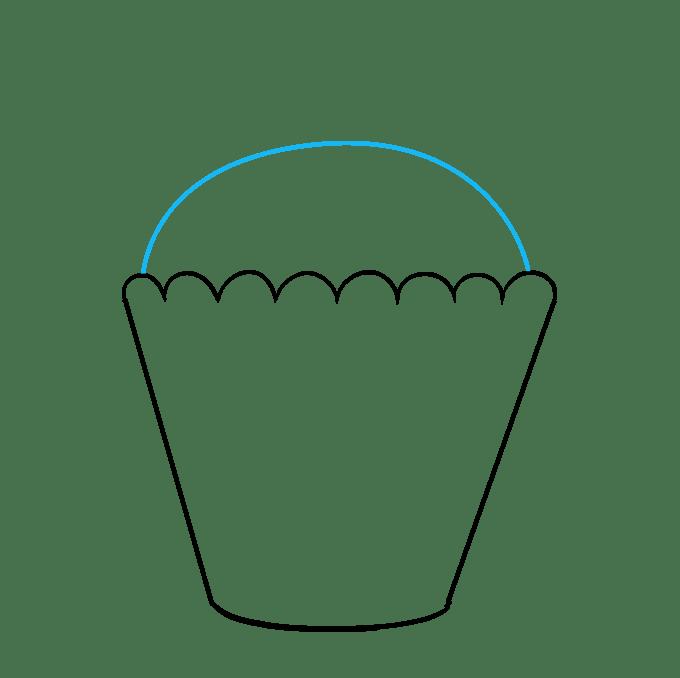 Cách vẽ Cupcake: Bước 6