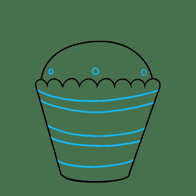 Cách vẽ Cupcake: Bước 7